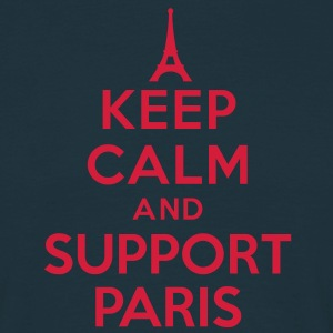 Keep calm and support Paris Tee shirts - T-shirt Homme