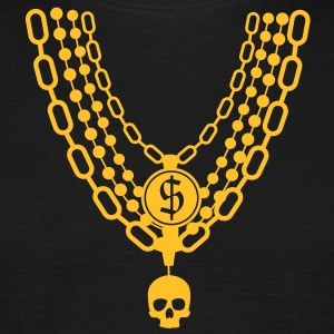 gold chain necklace T-Shirts - Men's T-Shirt