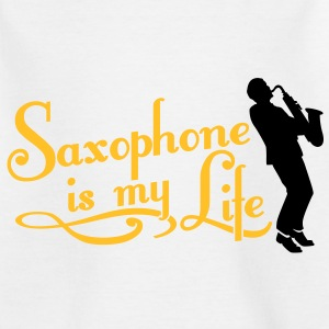 saxophone is my life Shirts - Kinderen T-shirt