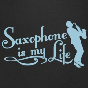 saxophone is my life T-Shirts - Men's V-Neck T-Shirt
