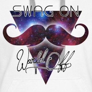 world off swag on Sudadera - Sudadera con capucha premium para mujer