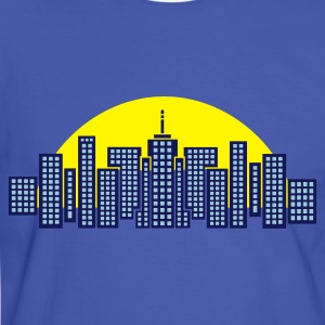 Blue/white City Skyline Manhattan Men's Tees - Men's Ringer Shirt