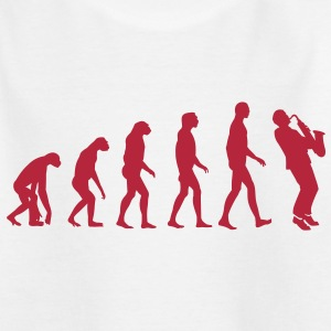 saxophone evolution Shirts - Kids' T-Shirt