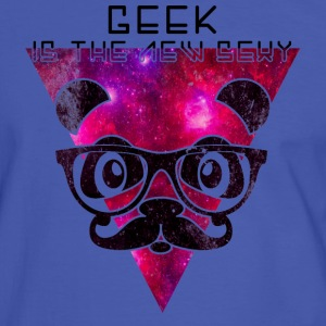 Geek is the new sexy panda T-skjorter - Kontrast-T-skjorte for menn