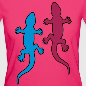 Gecko Love T-Shirts - Frauen Bio-T-Shirt