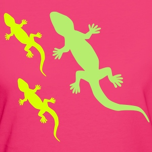 Gecko with Babies T-Shirts - Frauen Bio-T-Shirt