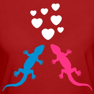 Gecko in Love T-Shirts - Women's Organic T-shirt