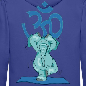 The elephant practice the tree and sings OM Pullover & Hoodies - Männer Premium Hoodie