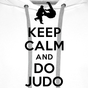 Keep calm and do Judo Sweat-shirts - Sweat-shirt à capuche Premium pour hommes