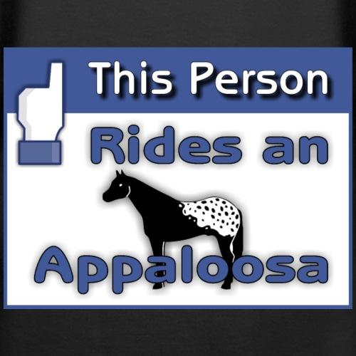 rides an appaloosa