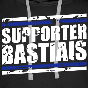 Supporter bastiais vintage Sweat-shirts - Sweat-shirt à capuche Premium pour hommes