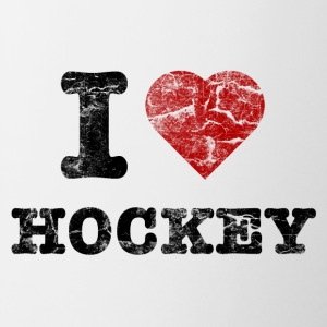 I Love Hockey vintage dark Bottles & Mugs - Mug
