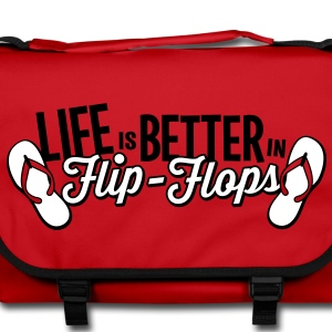 Red/black Life is better in Flip-Flops Bags & backpacks - Shoulder Bag