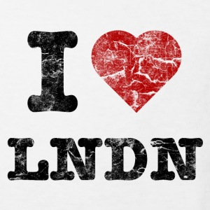 I Love LoNDoN vintage dark Shirts - Kinderen Bio-T-shirt