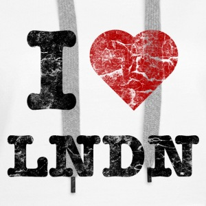 I Love LoNDoN vintage dark Hoodies & Sweatshirts - Women's Premium Hoodie