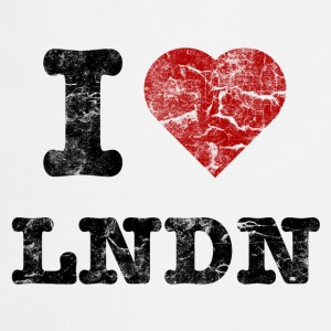 I Love LoNDoN vintage dark Forklær - Kokkeforkle