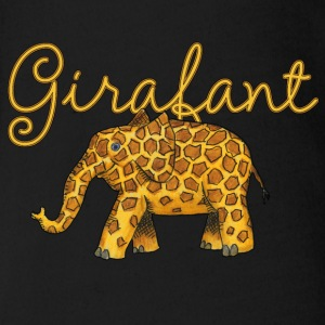 Girafant Shirts - Organic Short-sleeved Baby Bodysuit