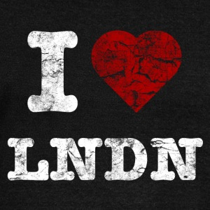 I Love LoNDoN vintage light Hoodies & Sweatshirts - Women's Boat Neck Long Sleeve Top