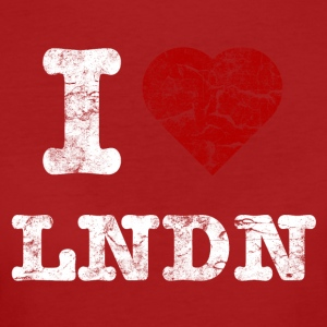 I Love LoNDoN vintage light T-Shirts - Frauen Bio-T-Shirt