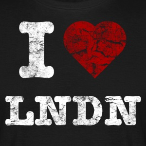 I Love LoNDoN vintage light T-shirts - T-shirt herr
