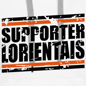 Supporter Lorientais vintage Sweat-shirts - Sweat-shirt à capuche Premium pour femmes