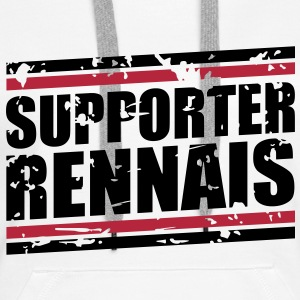 Supporter Rennais vintage Sweat-shirts - Sweat-shirt à capuche Premium pour femmes