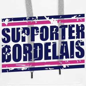 Supporter bordelais vintage Sweat-shirts - Sweat-shirt à capuche Premium pour femmes