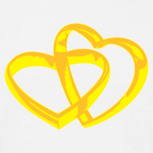 Wit ::RING HEART:: T-shirts - Mannen T-shirt