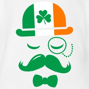 i love ireland irish shamrock St. Patrick's Day T-Shirts - Baby Bio-Kurzarm-Body