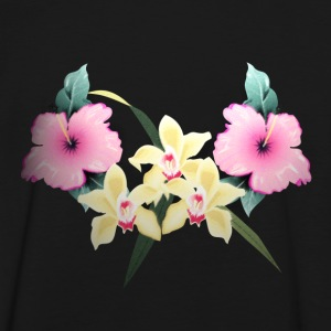 Tiki lei vintage flowers by patjila T-Shirts - Men's Ringer Shirt