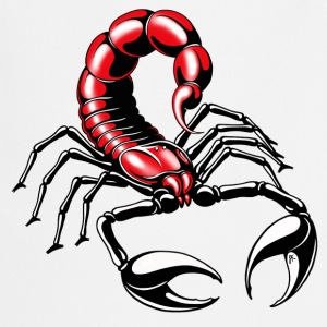 scorpion - rouge - Tablier de cuisine