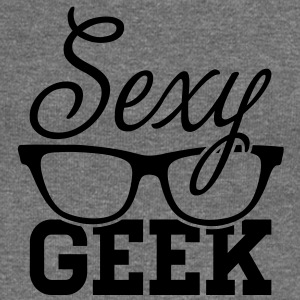 Like a i love cool sexy geek nerd glasses boss Sweat-shirts - Pull Femme col bateau de Bella