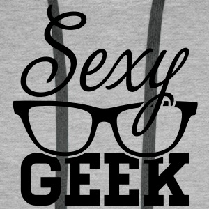 Like a i love cool sexy geek nerd glasses boss Sweat-shirts - Sweat-shirt à capuche Premium pour hommes