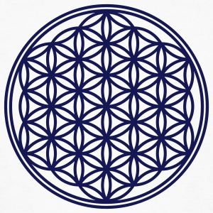 Vector - Flower of Life - 01, 1c, sacred geometry, energy, symbol, powerful, healing, protection, cl T-Shirts - Männer Bio-T-Shirt