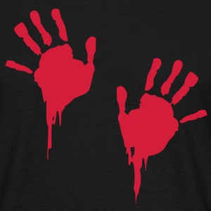 bloody handprints T-Shirts - Männer T-Shirt