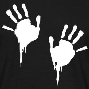 bloody handprints T-Shirts - Men's T-Shirt