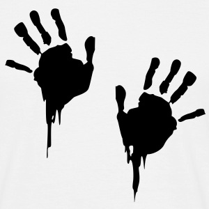 bloody handprints Tee shirts - T-shirt Homme