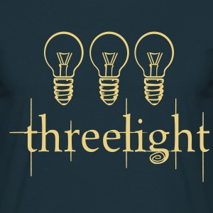 Three Light Bulb Twilight  T-Shirts - Men's T-Shirt