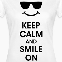 Keep Calm and Smile. Sonreír ayuda. Smiley Smily Camisetas