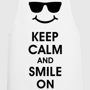 Keep Calm and Smile. Smiling helps. Smiley Smilie  Aprons - Cooking Apron