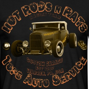 hot rods rats custom garage racing - Men's T-Shirt