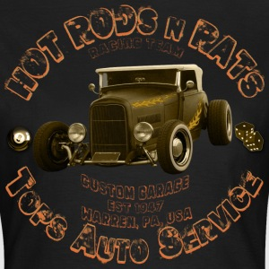 hot rods rats custom garage racing girl - Women's T-Shirt