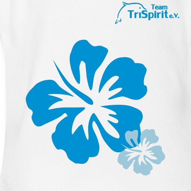 Leni Blumen Strampler blaues Logo