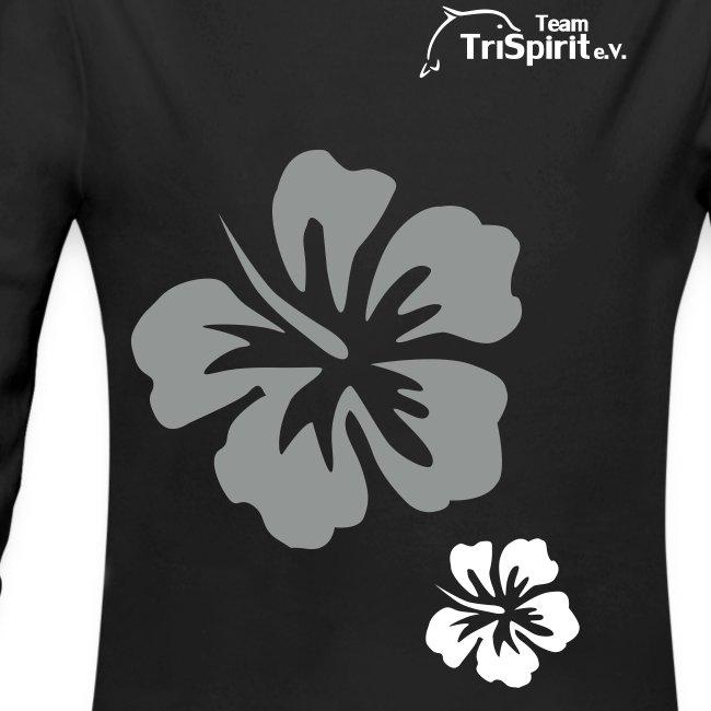 Leni Blumen2 Strampler langarm weisses Logo