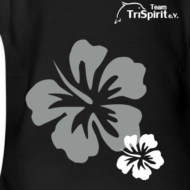 Leni Blumen2 Strampler weisses Logo