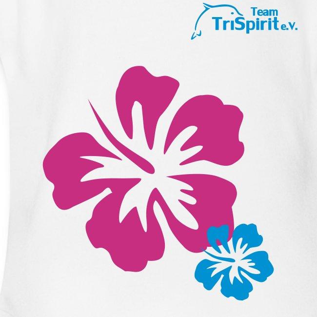 Leni Blumen2 Strampler blaues Logo
