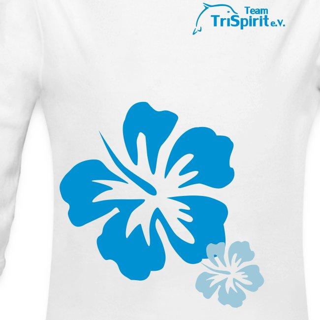 Leni Blumen Strampler langarm blaues Logo