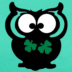 Owl lucky charm st.Patty's day Women's Scoop Neck  - Women's Scoop Neck T-Shirt