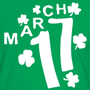 MARCH 17  shamrock st.patty's day Men's Contrast T - Men's Ringer Shirt