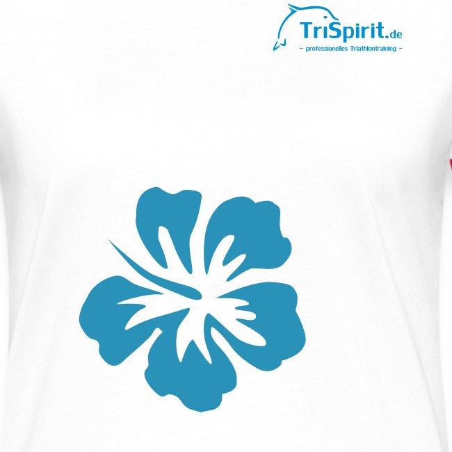 Cordula Kotnrastshirt grosse Blume blaues Logo